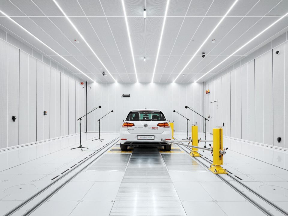 Bosch Engineering opens new acoustics test center in Abstatt to improve NVH (noise, vibration, harshness) in vehicles