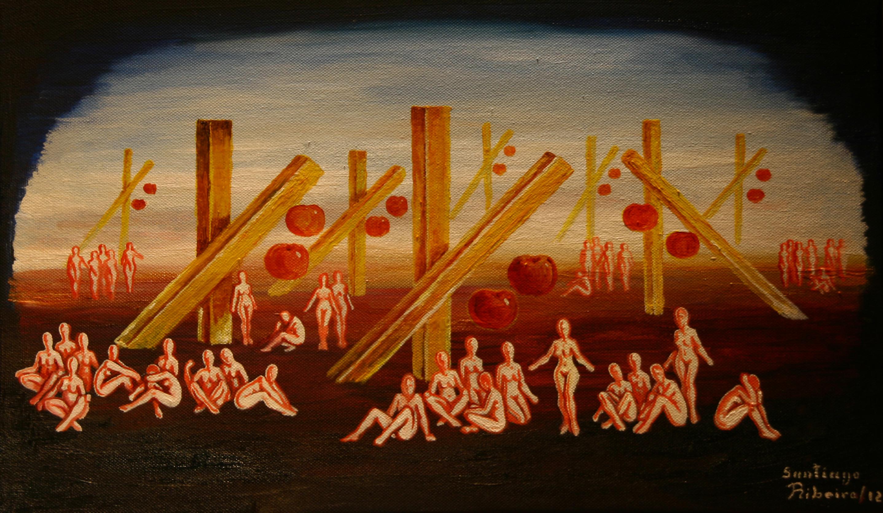 The Portuguese painter Santiago Ribeiro exhibits in the