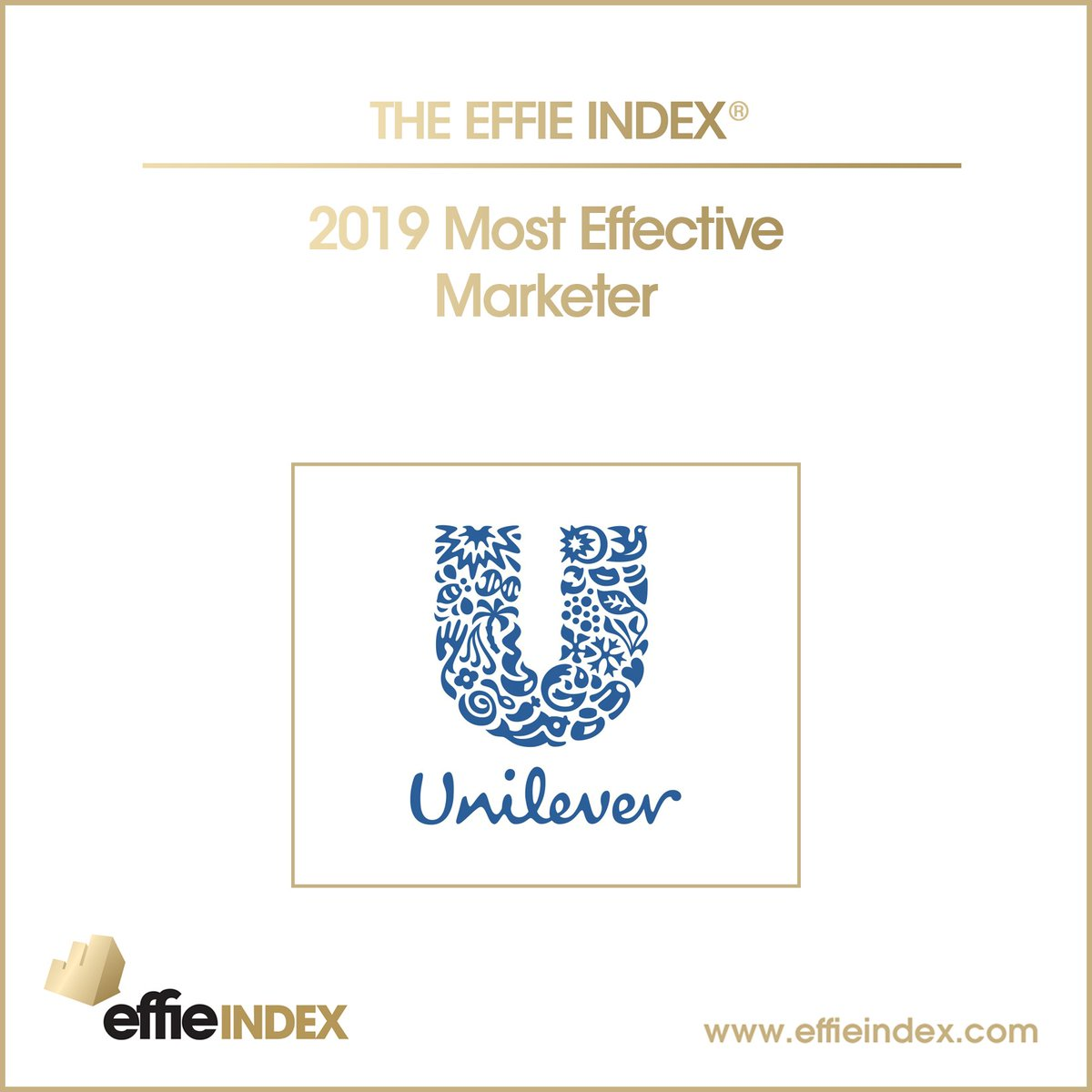 Unilever named the most effective marketer by Effie for the sixth time