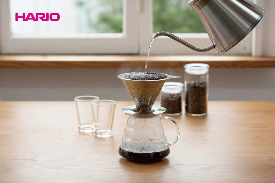 Change your dripper and change the flavor of your coffee! HARIO launches the Double Mesh Metal Dripper.