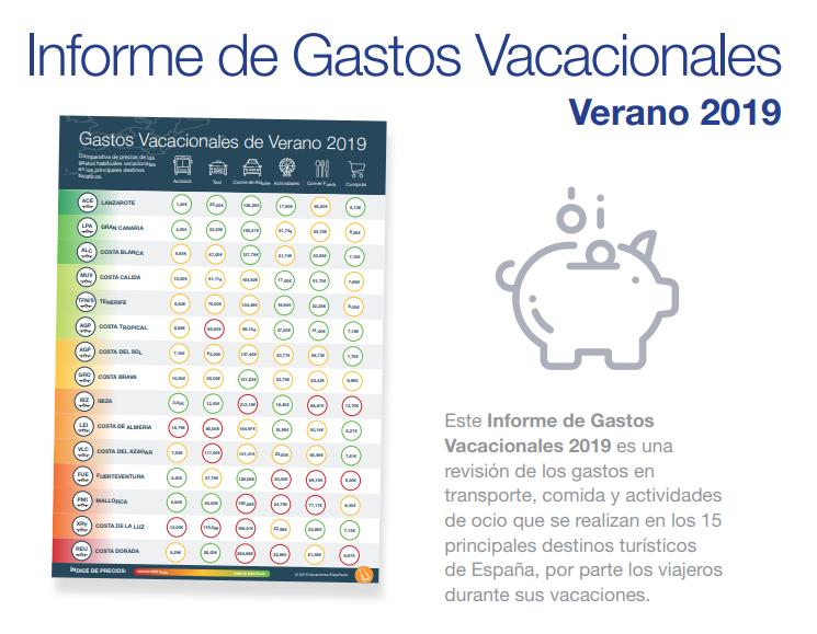 Informe de Gastos Vacacionales 2019