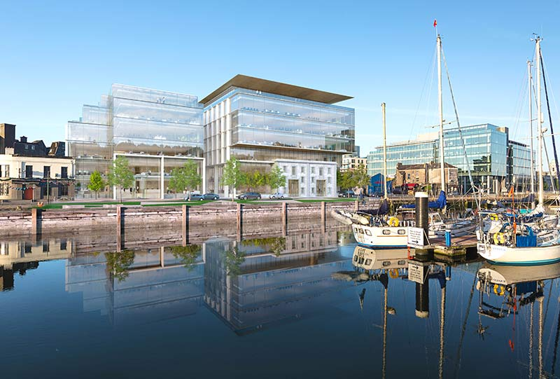 Navigation Square's NSQ1 office building in Cork, Ireland will house Clearstream's growing funds business