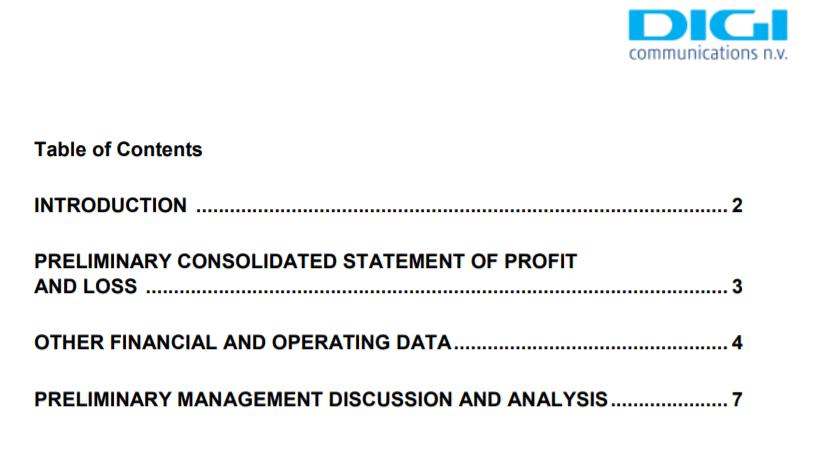 Digi Communications NV's Preliminary Financial Report at 31 Dec 2019 (PDF – EN)