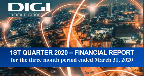 Digi Communications NV announces the release of the Q1 2020  Financial Results